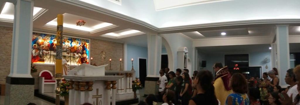 Paroquianos se reuniram para a celebração da Festa da Misericórdia. Foto: Erlon Oliveira